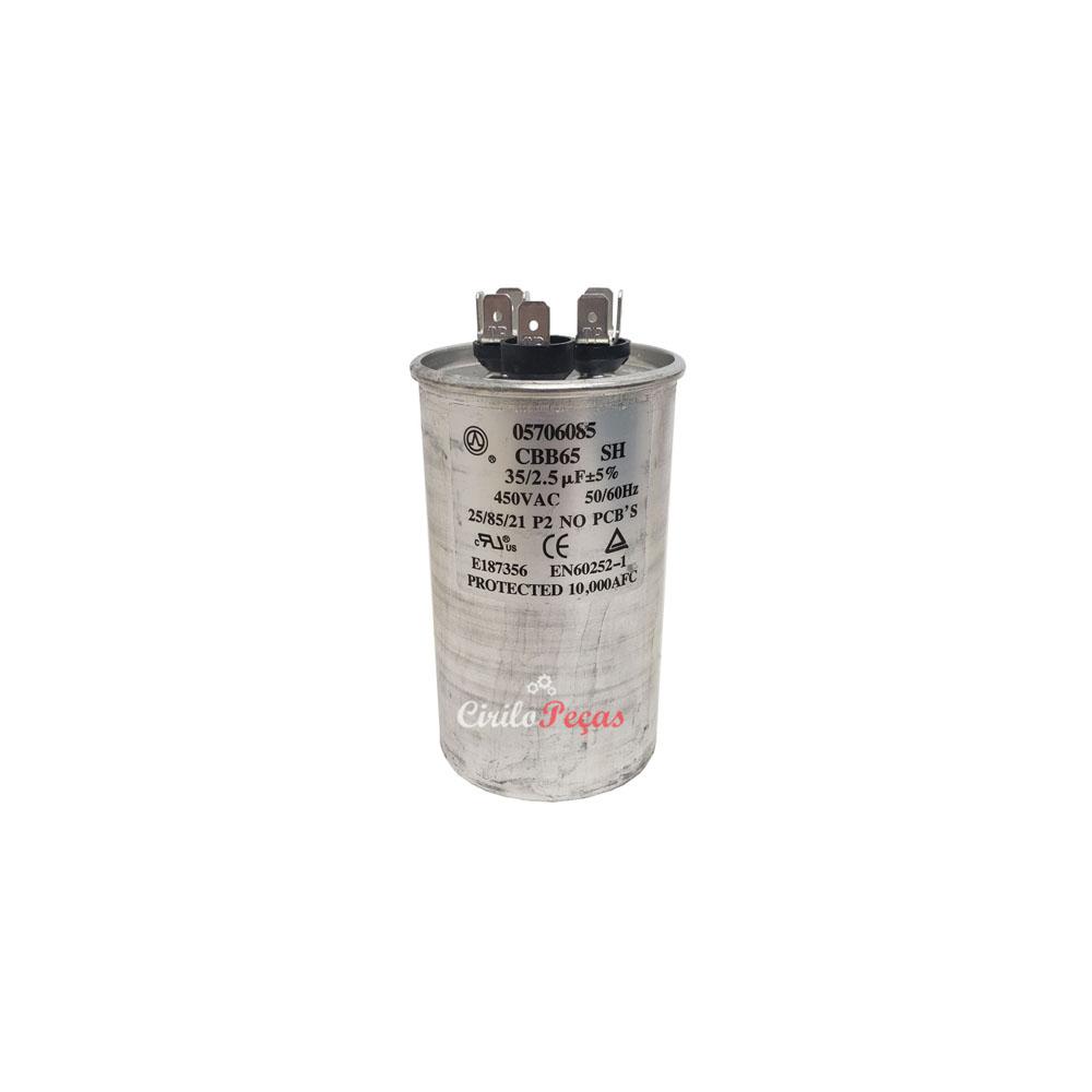 Capacitor 35+2.5uf / 450vac Springer