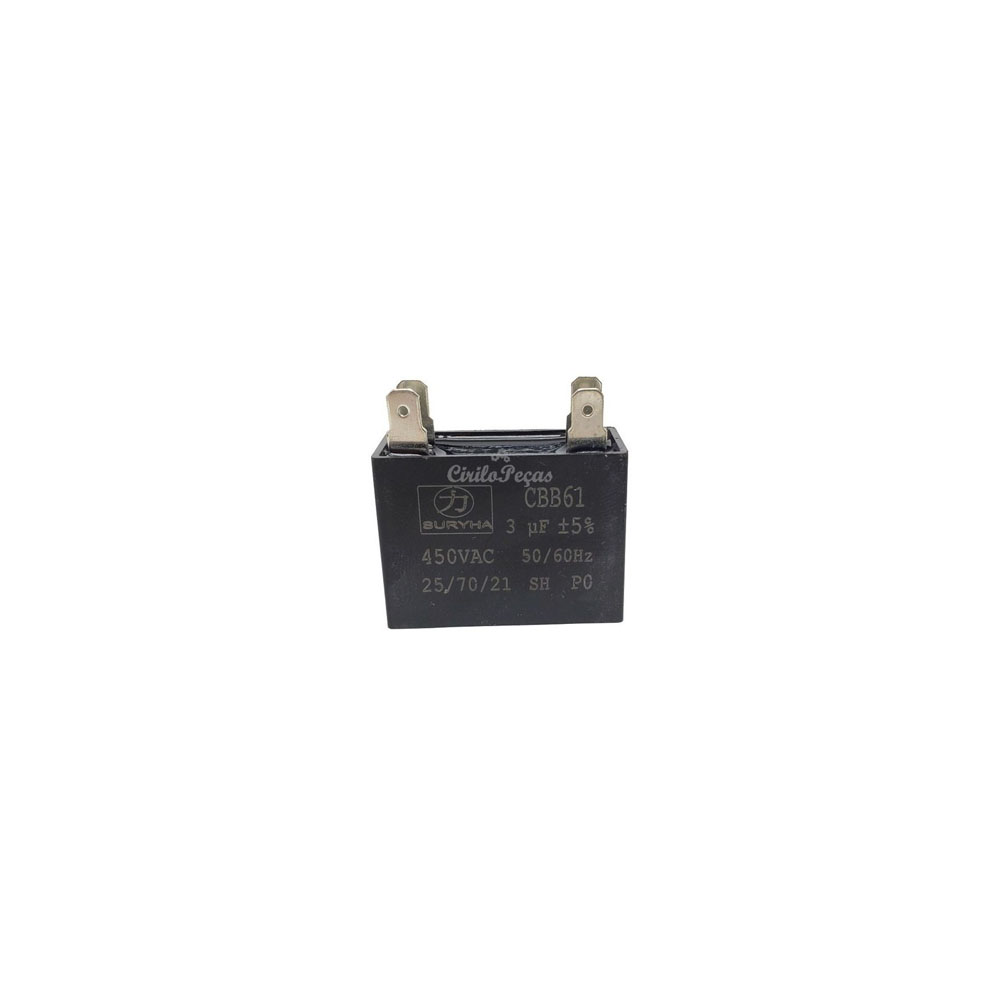Capacitor 3uf / 450vac - Suryha