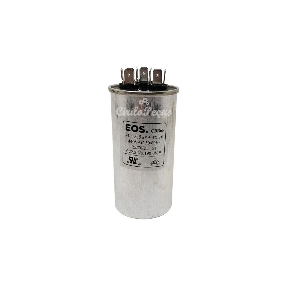 Capacitor 40+2,5uf / 440Vac - Eos