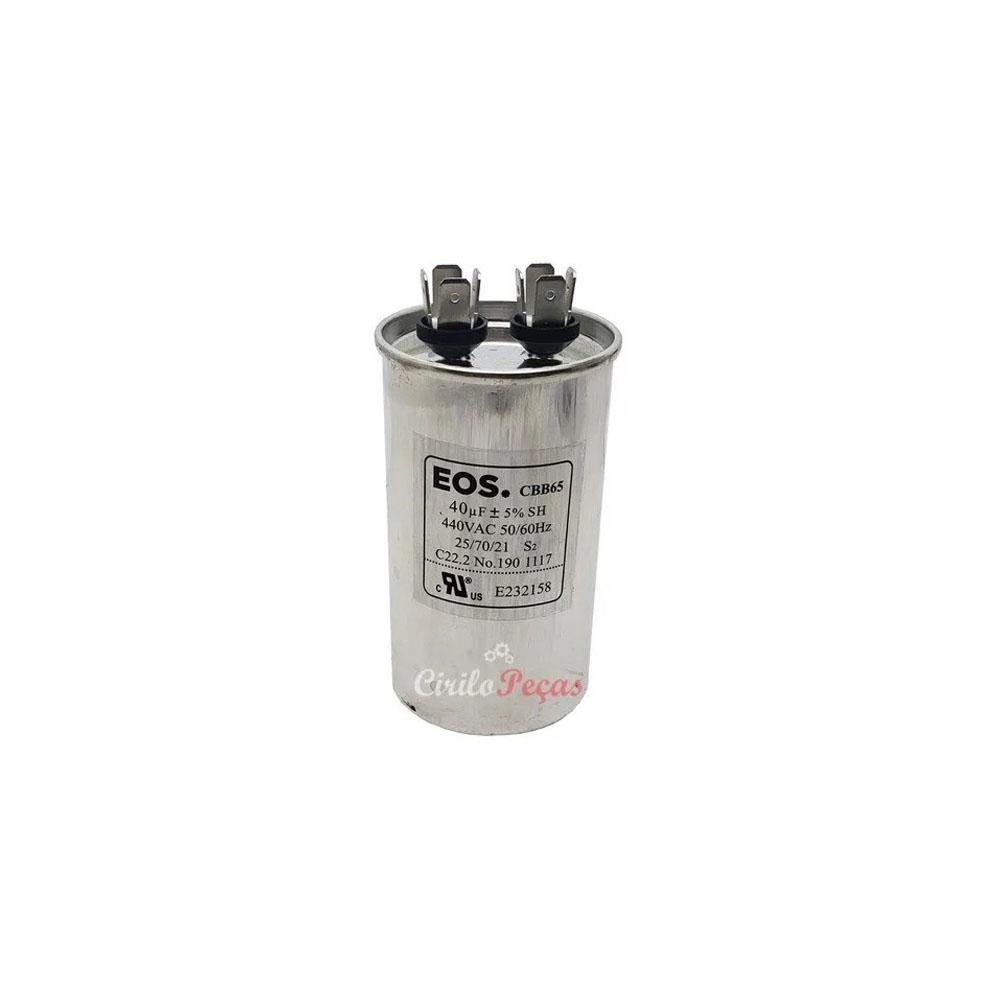 Capacitor 40uF / 440Vca - Eos