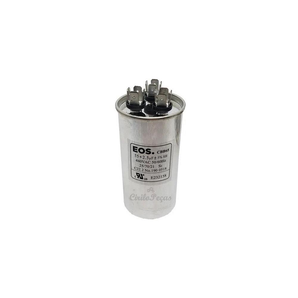 Capacitor 55+2.5uf / 440Vac - EOS