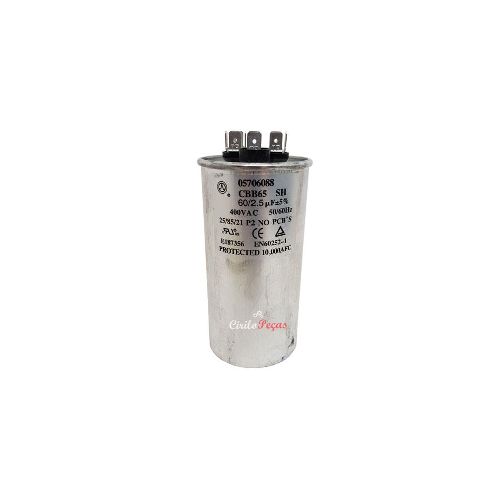 Capacitor 60+2.5uf / 400vac Springer