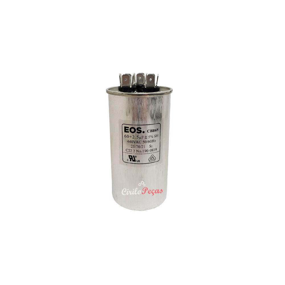 Capacitor 60+2.5uf / 440vac - EOS
