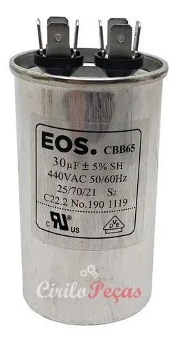 Capacitor Ar Condicionado 12.000 Btus 30uf 440v