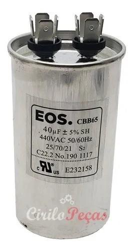 Capacitor 40uF 440Vca Cbb65 Eos