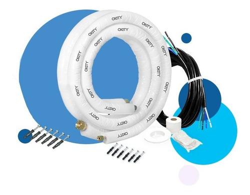 Kit Instalação Ar Condicionado Split Inverter 7/9/12000 5mts