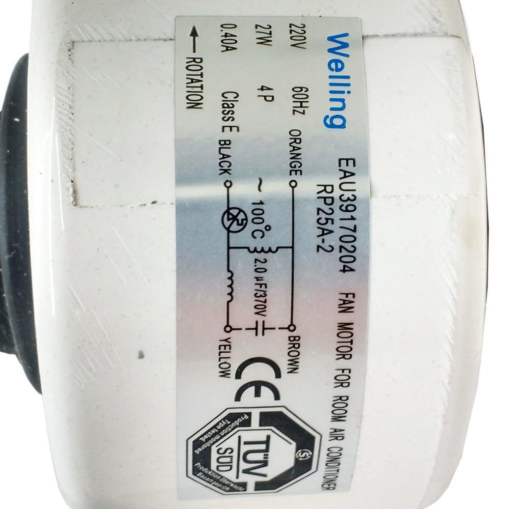 Motor Ventilador Evaporadora Ar Condicionado Lg 24.000 Btus
