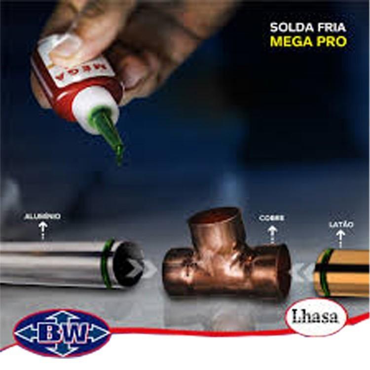 Solda Fria Hvac Super Mega Pro Para Tubos Cobre E Alumínio