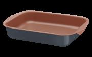 Assadeira Fund Alum 34 Cm Bakery Cinza Tramontina