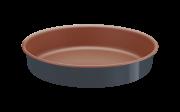 Assadeira Redonda Alumínio 22 Cm Bakery Cinza Tramontina