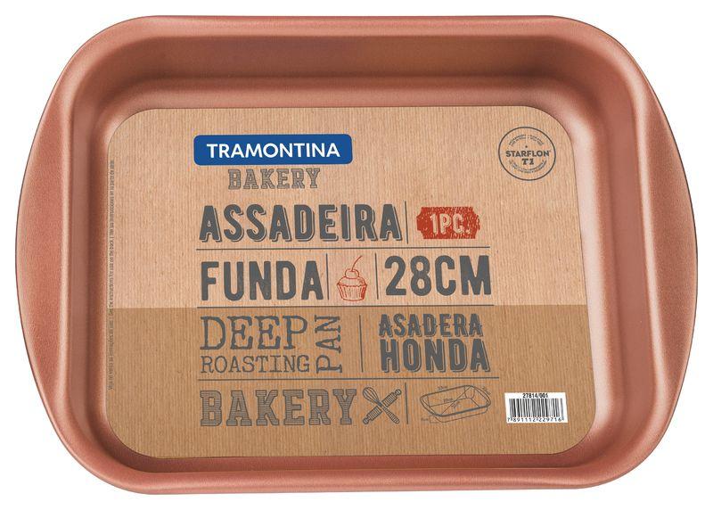 Assadeira Funda de Alumínio 28 Cm Bakery Cinza Tramontina