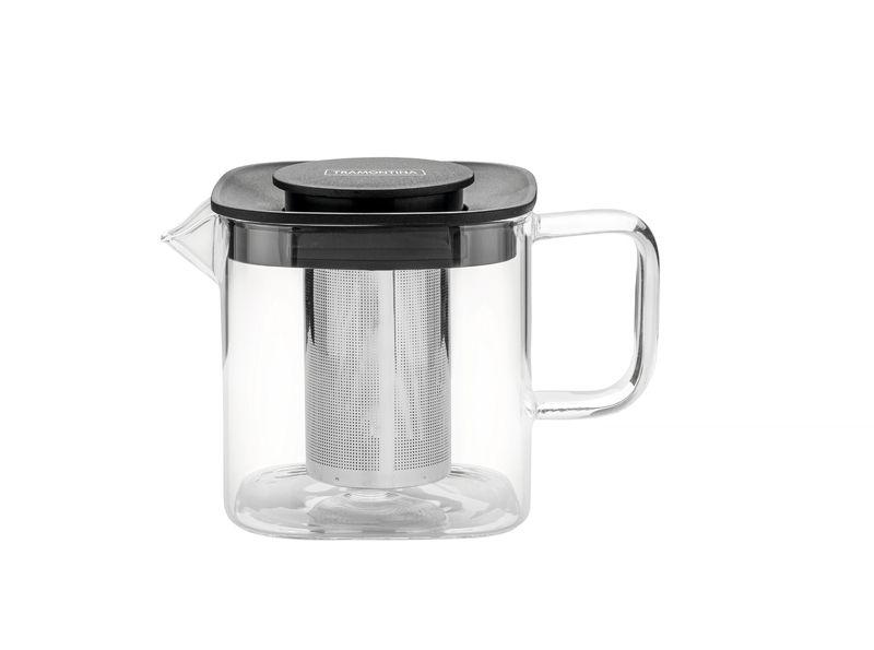 Bule Quadrado Vidro Com Infusor 0,6 litros Tramontina