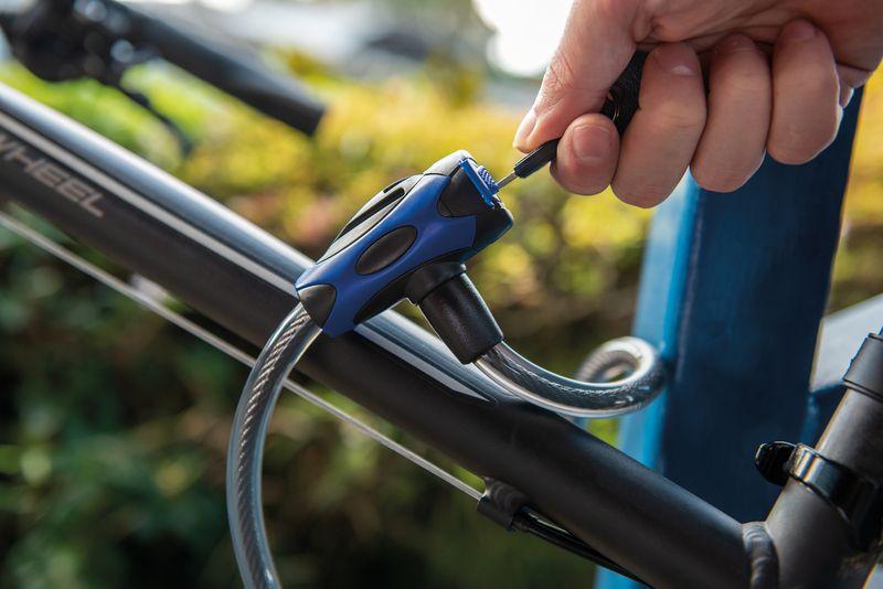Cadeado Para Bicicleta Com Chave Tramontina