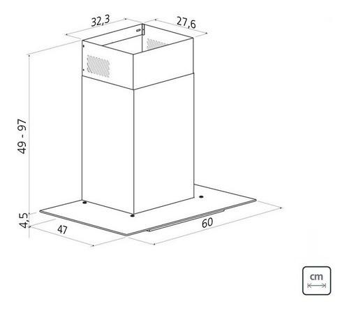 Coifa de Parede Tramontina Basic 60 em Aço Inox 127 V 60 cm