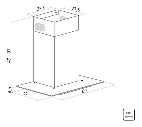 Coifa de Parede Tramontina Basic 60 em Aço Inox 220 V 60 cm