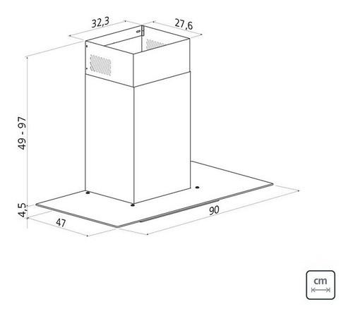 Coifa de Parede Tramontina Basic 90 em Aço Inox 127 V 90 cm