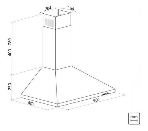 Coifa de Parede Tramontina Pirâmide 90 em Aço Inox 127V 90cm