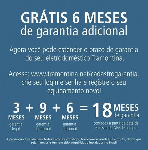 Coifa Parede Tramontina New Vetro Aço Inox e Vidro 60cm 220V