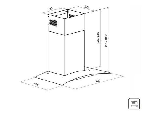 Coifa Parede Tramontina New Vetro Aço Inox Vidro 80 cm 220 V