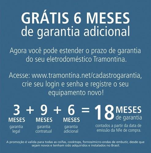 Coifa Tramontina New Vetro Isla Aço Inox e Vidro 90 cm 127 V