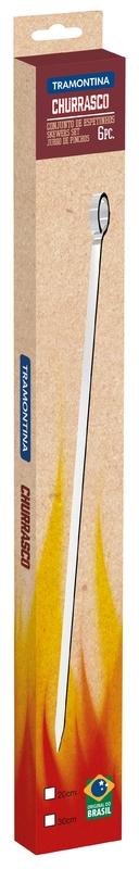 Conjunto de Espetinhos Tramontina em Aço Inox 20 cm 6 Peças