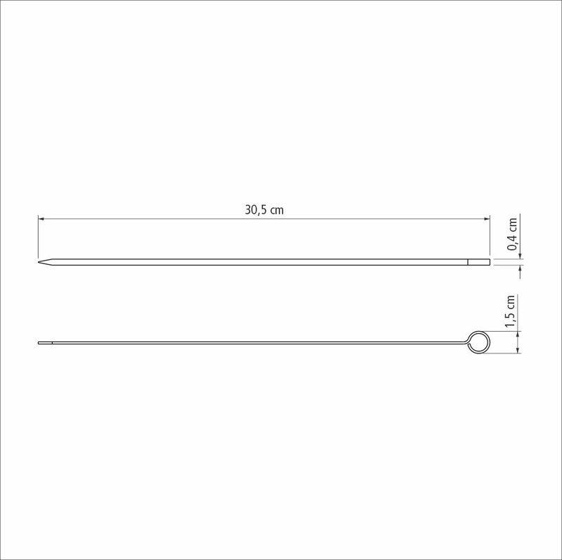 Conjunto de Espetinhos Tramontina em Aço Inox 30 cm 6 Peças