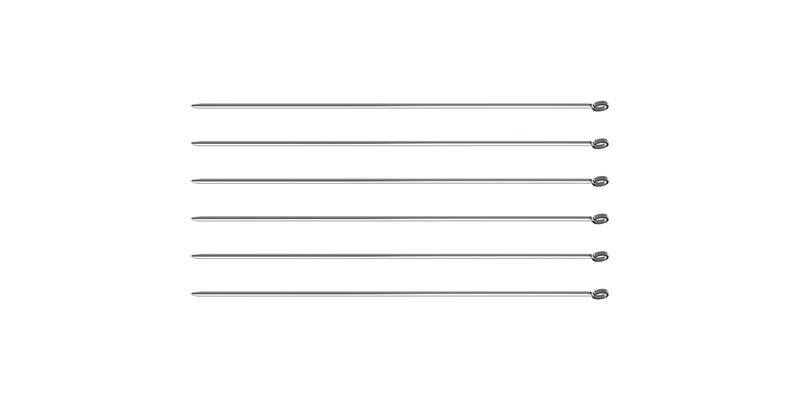 Conjunto de Espetinhos Tramontina em Aço Inox 40 cm 6 Peças
