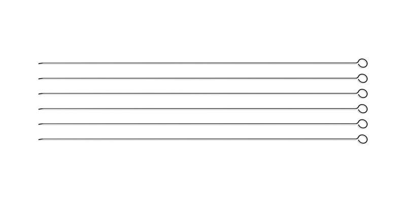 Conjunto de Espetinhos Tramontina em Aço Inox 50 cm 6 Peças