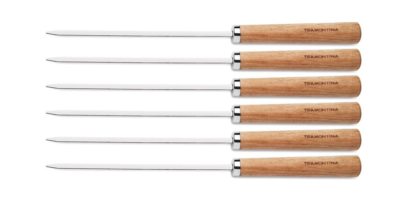 Conjunto de Espetinhos Tramontina Inox 40 cm 6 Peças