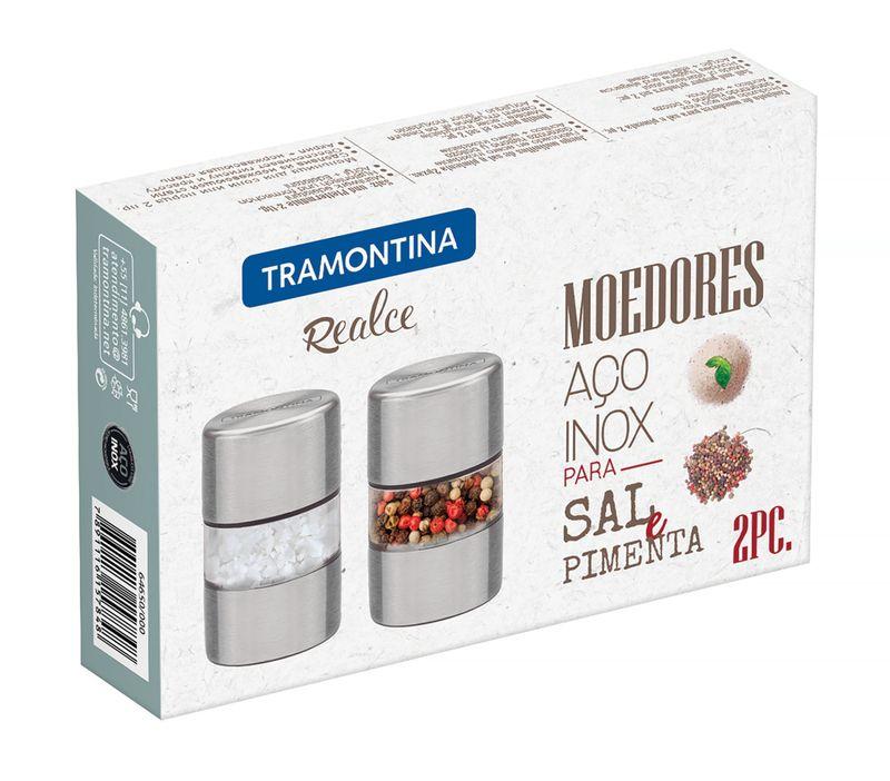 Conjunto Mini Moedores Aço Inox e Acriílico Tramontina