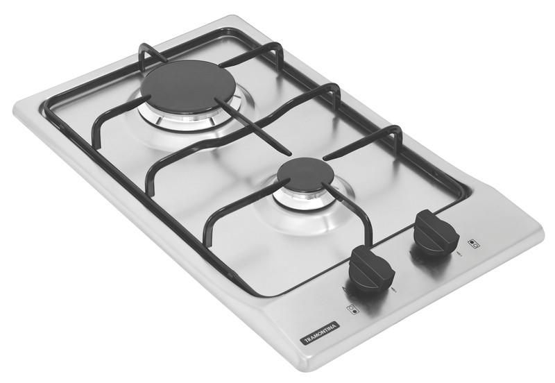Cooktop a Gás Tramontina Dominó em Aço Inox 2 Queimadores