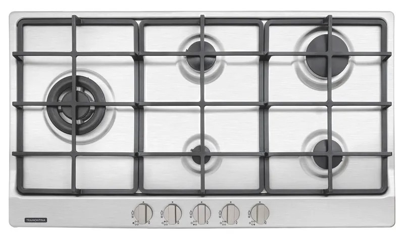 Cooktop a Gás Tramontina Penta Plus Aço Inox  5 Queimadores