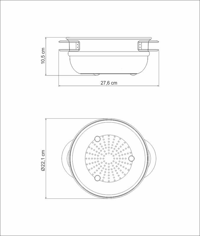 Cozi-Vapore Tramontina Solar em Aço Inox com Alças 20cm 3,2L
