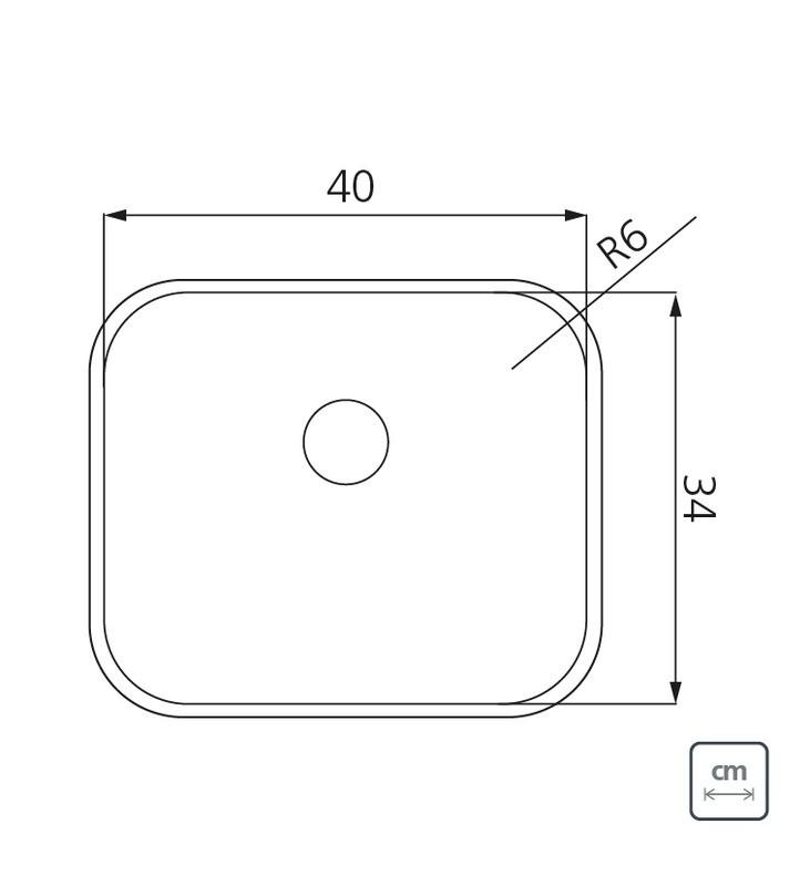 Cuba de Embutir Tramontina Dora em Aço Inox 40x34 cm