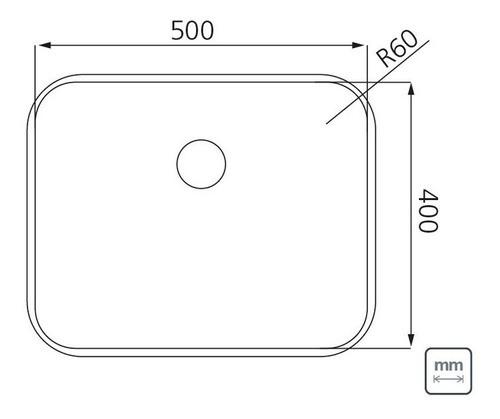Cuba de Embutir Tramontina Dora em Aço Inox 50x40 cm