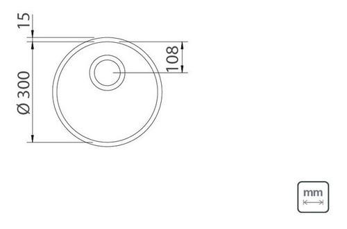 Cuba de Embutir Tramontina Luna em Aço Inox Polido 30cm