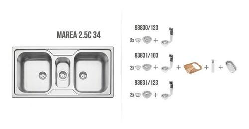Cuba de Sobrepor Tramontina Marea em Aço Inox 100x50 cm