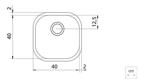 Cuba Embutir/Sobrepor Tramontina Aria Maxi Aço Inox 40x40 cm