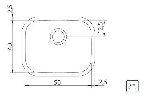 Cuba Embutir/Sobrepor Tramontina Aria Maxi Aço Inox 50x40 cm