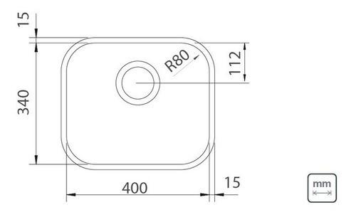 Cuba Embutir Tramontina Lavínia Aço Inox Acetinado 40x34 cm