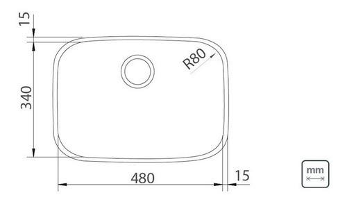 Cuba Embutir Tramontina Lavínia Aço Inox Acetinado 48x34 cm
