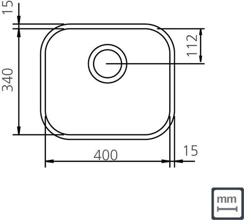 Cuba Embutir Tramontina Lavínia Aço Inox Alto Brilho 40x34 cm