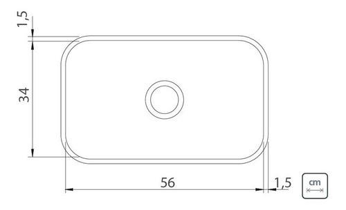Cuba Embutir Tramontina Lavínia em Aço Inox Polido 56x34 cm