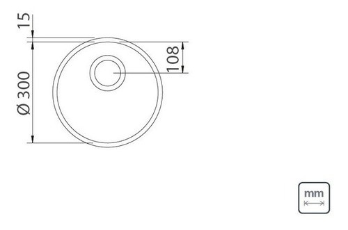 Cuba Embutir Tramontina Luna em Aço Inox Polido 30 cm