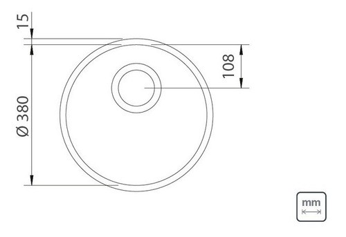 Cuba Embutir Tramontina Luna em Aço Inox Polido 38 cm