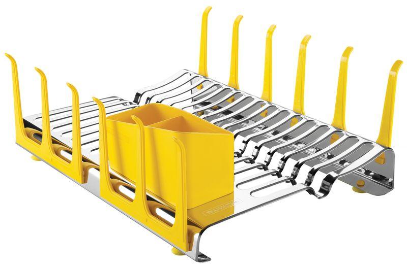 Escorredor Louca Aço Inox Amarelo Plurale Tramontina