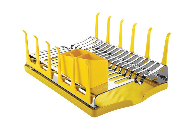 Escorredor Louça Aço Inox Amarelo Plurale Tramontina