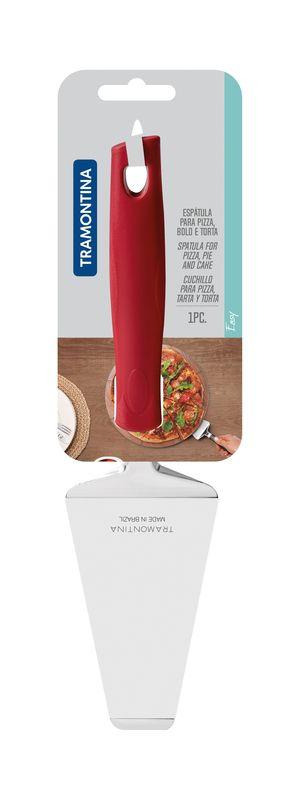 Espatula Pizza Inox Easy Vermelho Tramontina