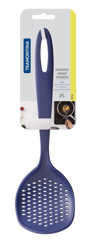 Espumadeira Tramontina Ability em Nylon Azul