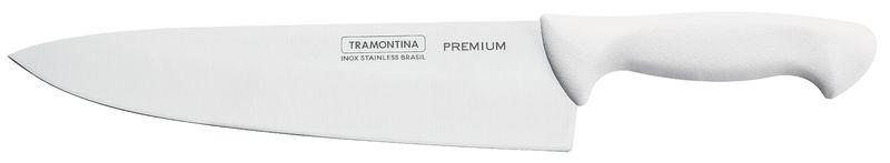 "Faca Carne Inox 10"" Branco Premium Tramontina"